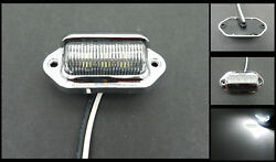 (1) Chrome 6 LED Surface License Plate Light Tag Interior Step Trailer Truck RV