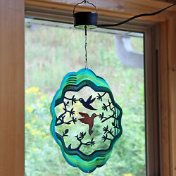 Sunnydaze Hummingbird Wind Spinner with Electric Operated Motor - 12-Inch