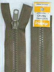 Vizzy Chunky Open End Zip 75cm Colour 12 CHESTNUT A Quality Brand Name Zipper