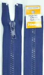 Vizzy Chunky Open End Zip 75cm Colour 59 FRENCH NAVY A Quality Brand Name Zipp