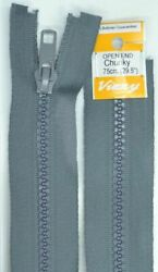 Vizzy Chunky Open End Zip 75cm Colour 62 GREY A Quality Brand Name Zipper