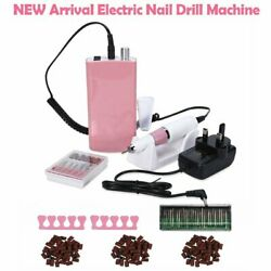 Portable Rechargeable Cordless Electric Nail Art Drill File Machine 30000RPM US