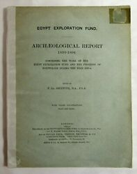 Antique 1893-94 EGYPT EXPLORATION FUND Archaeological Report ARCHAEOLOGY Maps