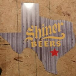 SHINER BEERS TEXAS STATE TIN ROOF LARGE MAN CAVE SHE SHED BREWERY ALCOHOL SIGN