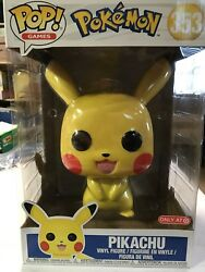 """Funko Pop! Pokemon Pikachu 10"""" Inch Target Exclusive IN HAND IMPERFECT BOX"""