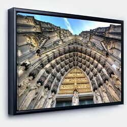 Designart 'Facade of the Dom Church in City' Large Cityscape Art Print on Framed