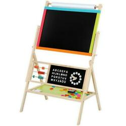 Portable Easel For Kids Toddler Preschool Children Teaching Art Magnetic Wooden