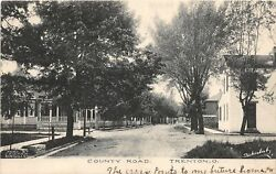 F12 Trenton Ohio Postcard 1907 County Road Homes Butler County