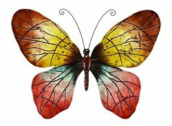 Butterfly Wall Decor Metal Vibrant Style Attractive Home Display Quality Sturdy $99.99