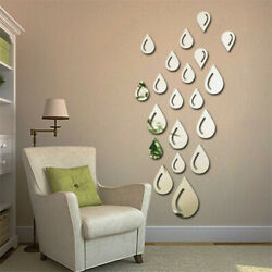 DIY Raindrop 3D Mirror Wall Stickers Removable Home Decal Art Room Decor 20PCS $3.38