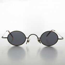 Micro Frame Vintage Sunglass Oval Gunmetal Spectacle Frame Joseph $25.00