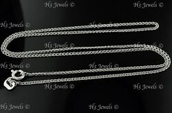 1.30 grams 14k solid White gold flat wheat link chain necklace 20 inch #6133 new $94.88