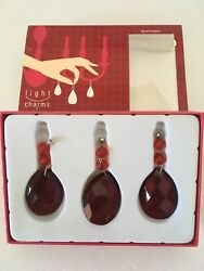 Light Charms Ruby Red Tear Crystal Magnetic Chandelier Lamp Party Decor NIB $29.97