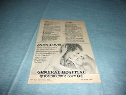 General Hospital 1983 she's alive   tv guide ad  clipping #EH