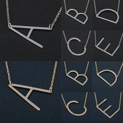 Simple Creative Letter Chain Alloy Pendant Necklace Choker Women Jewelry Gifts