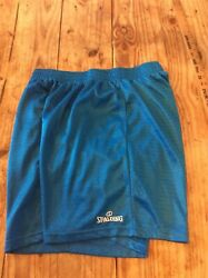 Awesome men#x27;s size XL Spalding blue sports shorts Nice $7.99