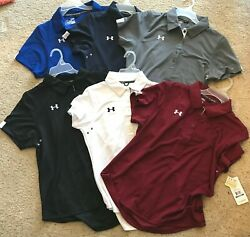 Under Armour UA Womens Coaches Polo II Coach#x27;s Semi Fitted Colors amp; Size $50 $21.08