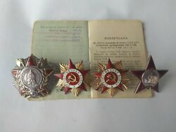 WWII Set of Alexander Nevsky Orders + 2Order of the Patriotic War 1st + Red Star