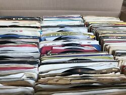 Lot of 100 Random VG+ 45 rpm Vinyl Records! **FREE 45s** (Read Below!)