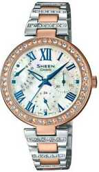 Casio Sheen Analog Mother of Pearl Dial Women's Watch - SHE-3043SPG-7AUDR