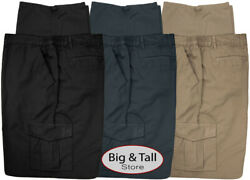 Big amp; Tall Men#x27;s Casual Cargo Pants with Side Elastic by Full Blue Sizes 42 68 $42.95