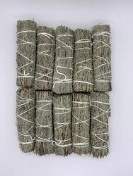 10 Blue Sage Smudge Sticks Wands 4 5 quot; Negativity Removal $19.95
