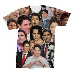 Justin Trudeau Photo Collage T Shirt $25.19