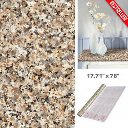 Decorative Brown Granite Look Contact Paper Countertop Vinyl Self Adhesive Film $25.99