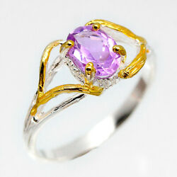 Special Price! Natural Amethyst 8x6 mm. 925 Sterling Silver Ring  RVS216