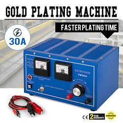 Platinum Silver Gold Plating Machine Jewelry Plater Electroplating w Rectifier