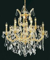 Palace Maria Theresa  13 light Crystal Chandelier light Gold 27x26 $1,450.00