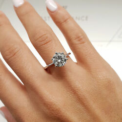 0.92 Carat Round shape F - SI1 Solitaire Diamond GIA Engagement Ring sizeable