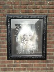 Audrey Kawasaki - She Who Dares - Signed Limited Print 200 Framed