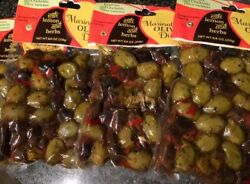 GREEK MARINATED OLIVE MEDLEY WITH LEMON AND HERBS 4 POUCHES 8.8 OZ EACH FAST S+H