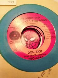 Don Rich The Night They Drove Old Dixie Down ~ 1969 Capitol promo 45 +sleeve