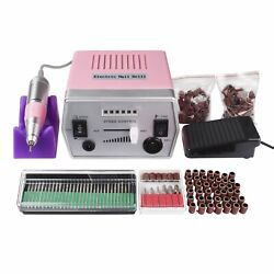 30000RPM Rechargeable Electric Nail Art Drill File Manicure Machine + 150 Bands