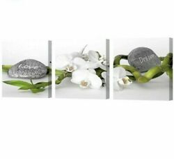 Wall Canvas Arts With Framed For Living Room Modern Pictures Flower Stone Poster $52.48