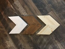 Set Of 3 Wooden Tribal Arrows Decor White Brown Natural 7.5
