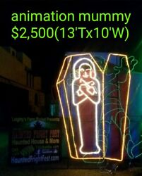 HUGE COMMERCIAL MUMMY HALLOWEEN LIGHT SCULPTURE DISPLAYCHRISTMASDECORATION $2,500.00