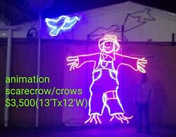HUGE SCARECROW COMMERCIAL HALLOWEEN LIGHT SCULPTURE DISPLAYAMUSEMENTDECORATION $3,500.00