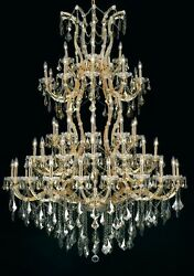 Palace Maria Theresa 61 Light Golden Teak Crystal Chandelier Light in Gold 54x72 $6,785.00