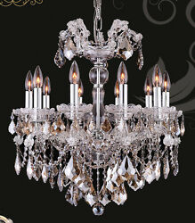 Limited Edition Maria Theresa Chandelier Golden Teak Crystal C 10 Lts 22
