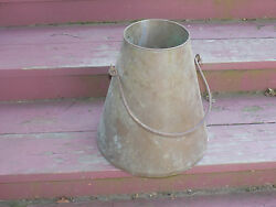 Vintage Funnel Cone Shaped Copper Bucket with Handle $160.00