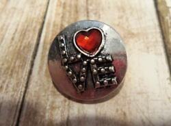 red heart love Ginger snap Noosa Chunk Snap 18-20mm charm