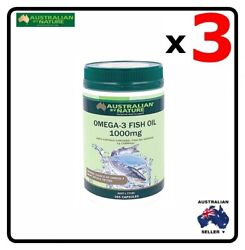 3 x Australian by Nature Omega 3 Fish Oil 1000mg 365 Capsules AU $261.03
