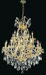 Palace Maria Theresa 19 light Crystal Chandelier Light 32x42 Gold $1,975.00