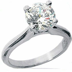 1.5 carat Round Cut Diamond Engagement Solitaire Ring  H SI1 clarity 14K Gold