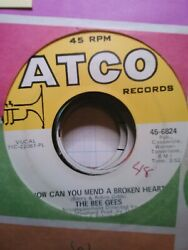 The Bee Gees How Can You Mend a Broken Heart ~ 1971 Atco 45 +sleeve