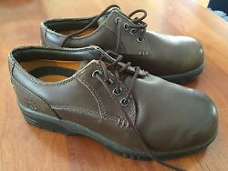TIMBERLAND Leather Brown Waterproof Boys Oxfords Sz 3.5 $5.99