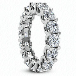 4.14 carat Platinum Round Diamond Ring Eternity Band D-E VVSVS GIA cert. size 8